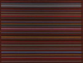 marroon horizontal stripes  acrylic on canvas  2003